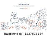 flower shop   modern line... | Shutterstock .eps vector #1237518169