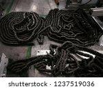 chain drive shaft in conveyor... | Shutterstock . vector #1237519036