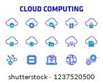 cloud computing thin line icon... | Shutterstock .eps vector #1237520500