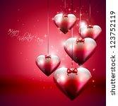 valentine modern background | Shutterstock .eps vector #123752119