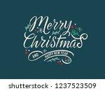 merry christmas vector text... | Shutterstock .eps vector #1237523509