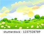 vector cartoon illustration of... | Shutterstock .eps vector #1237528789
