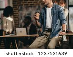 cropped view of young man... | Shutterstock . vector #1237531639