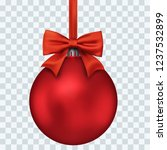 red christmas decoration ball... | Shutterstock .eps vector #1237532899