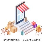 vector isometric composition... | Shutterstock .eps vector #1237533346