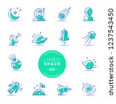 lineo lime   space and planets... | Shutterstock .eps vector #1237543450