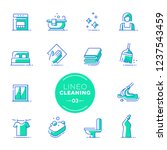 lineo lime   cleaning and... | Shutterstock .eps vector #1237543459