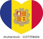 vector of andorra flag in a ... | Shutterstock .eps vector #1237558606