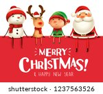 merry christmas  happy... | Shutterstock .eps vector #1237563526