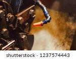 high precision hot forging... | Shutterstock . vector #1237574443