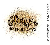 happy holidays banner  print... | Shutterstock .eps vector #1237574716