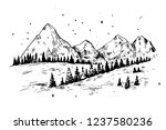winter background with... | Shutterstock .eps vector #1237580236