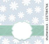 beautiful frame on a seamless... | Shutterstock .eps vector #1237584766
