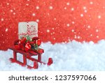 christmas greeting card  toy... | Shutterstock . vector #1237597066
