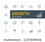 growth line icon set. analysis  ... | Shutterstock .eps vector #1237609036