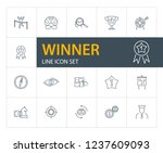 winner line icon set. leader ... | Shutterstock .eps vector #1237609093