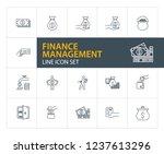 finance management line icon... | Shutterstock .eps vector #1237613296