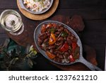 fried top meat with white top... | Shutterstock . vector #1237621210