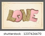 valentine's day greeting card.... | Shutterstock .eps vector #1237626670