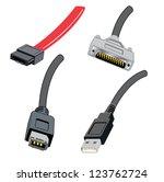 various computer wires | Shutterstock .eps vector #123762724