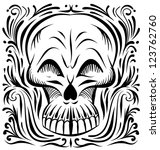 ornate decorative skull | Shutterstock .eps vector #123762760