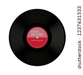 simple vinyl record  gramophone ... | Shutterstock .eps vector #1237631533