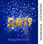 happy new year 2019 modern... | Shutterstock .eps vector #1237634260
