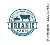 organic farm vintage logo   Shutterstock .eps vector #1237637563