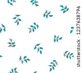 seamless leaves pattern. vector ... | Shutterstock .eps vector #1237638796