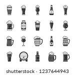 beer mug silhouette icons set.... | Shutterstock .eps vector #1237644943