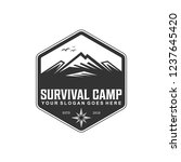 survival camp logo vintage | Shutterstock .eps vector #1237645420