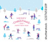 merry christmas and a happy new ... | Shutterstock .eps vector #1237653109