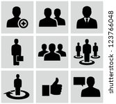 business man icons | Shutterstock .eps vector #123766048