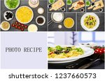 recipe step by step farfalle... | Shutterstock . vector #1237660573
