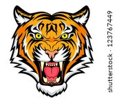 tiger anger. vector... | Shutterstock .eps vector #123767449