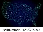 polygonal mesh map of usa.... | Shutterstock .eps vector #1237676650