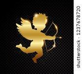 golden valentine cupid... | Shutterstock .eps vector #1237678720