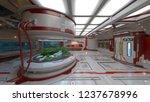 3d cg rendering of space station | Shutterstock . vector #1237678996