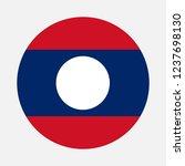 laos flag circle  vector image... | Shutterstock .eps vector #1237698130