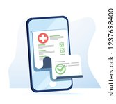 medical form list with results... | Shutterstock .eps vector #1237698400