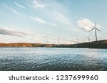 windmills wind turbines for... | Shutterstock . vector #1237699960