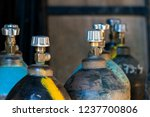 cylinder with carbon dioxide.... | Shutterstock . vector #1237700806