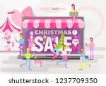 e commerce christmas sale... | Shutterstock .eps vector #1237709350