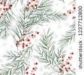 christmas seamless pattern ... | Shutterstock .eps vector #1237712800
