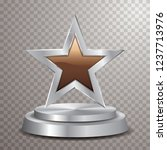 chocolate silver star on silver ...   Shutterstock .eps vector #1237713976