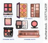 color illustration of makeup... | Shutterstock .eps vector #1237716259