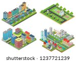 set of isolated 3d isometric... | Shutterstock .eps vector #1237721239