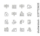 real estate related icons  thin ... | Shutterstock .eps vector #1237723633