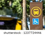 Detail Of A Bus Stop With...