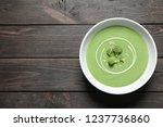 fresh vegetable detox soup made ...   Shutterstock . vector #1237736860